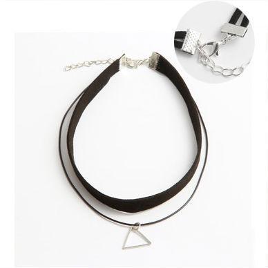 Prata Triângulo Clavícula Colar Nova Moda Jóias Para Mulheres Acessórios De Roupas Moda Hanging Chain Chain Colar Frete Grátis