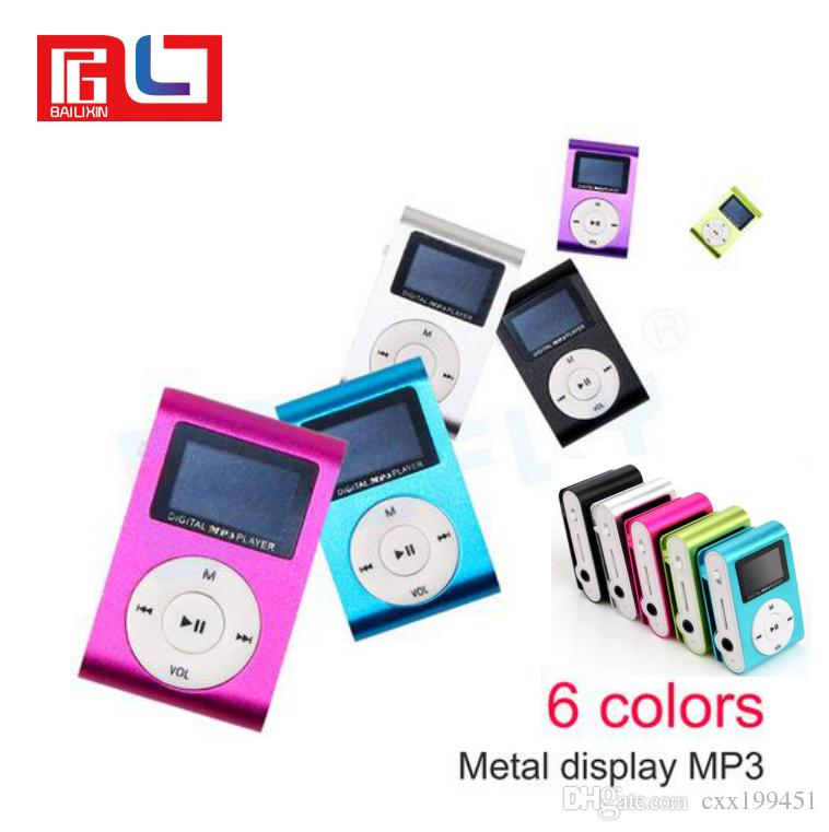 Mini USB Metal Clip Music MP3 Player LCD Screen MP3 Player With FM Support 32GB Micro SD TF Card Slot