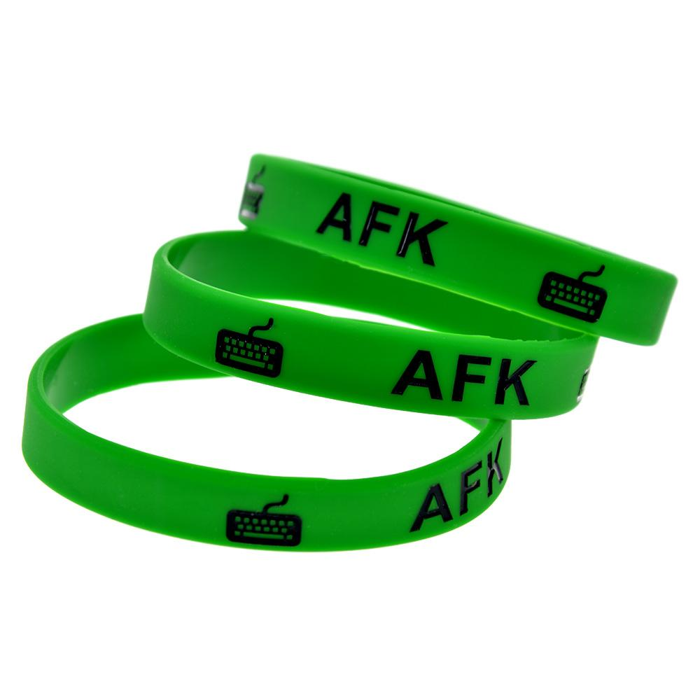 1PC AFK Silicone Rubber Wristband Ink-Filled Color Perfect To Use In Any Benefits Gift For Gamer