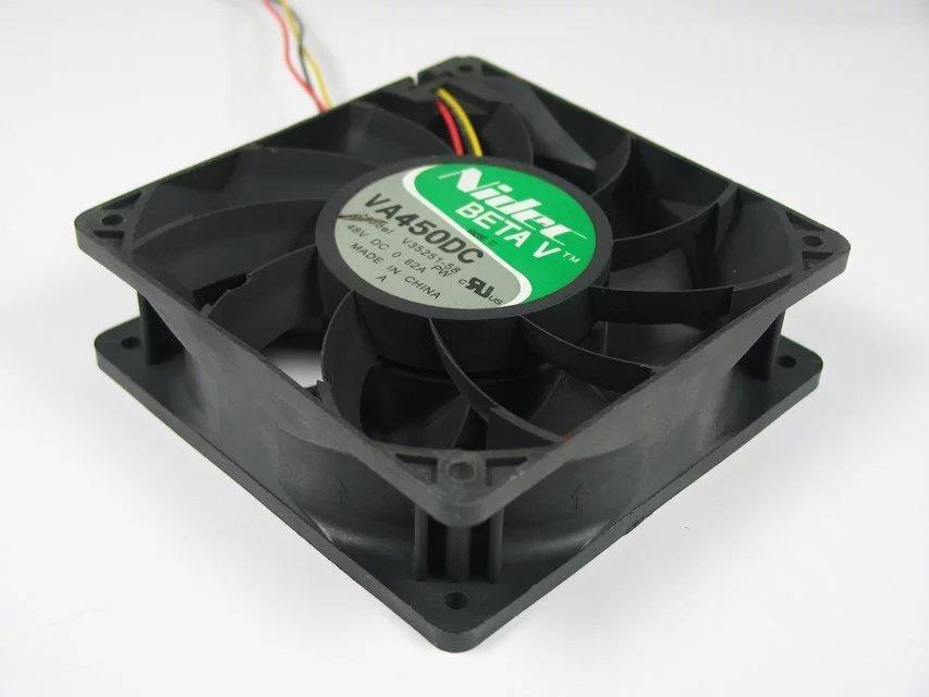 Nidec VA450DC V35251-58 DC 48V 0.62A Conector de 3 pines y 3 cables 110 mm 120X120X38mm Ventilador de enfriamiento de servidor