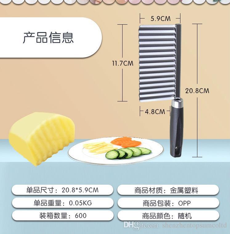 kartoffelschneider cutter kartoffelmesser küchenhelfer zubehör kochen werkzeuge Edelstahl obst gemüse Chip Cut werkzeug