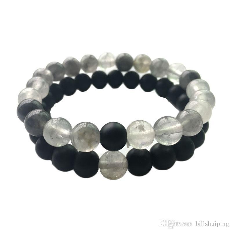 8mm Naturstein Stränge Armbänder Chakra Healing Perlen Charme Für Männer Frauen Liebhaber Stretch Yoga Schmuck
