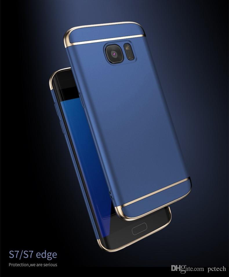 Lüks Telefon Kılıfları 3 1 koruyucu Telefon Kapak iphone X Iphone 8 8 artı I7 Ben 7 Artı Samsung S8 S8 Artı S7 Kenar