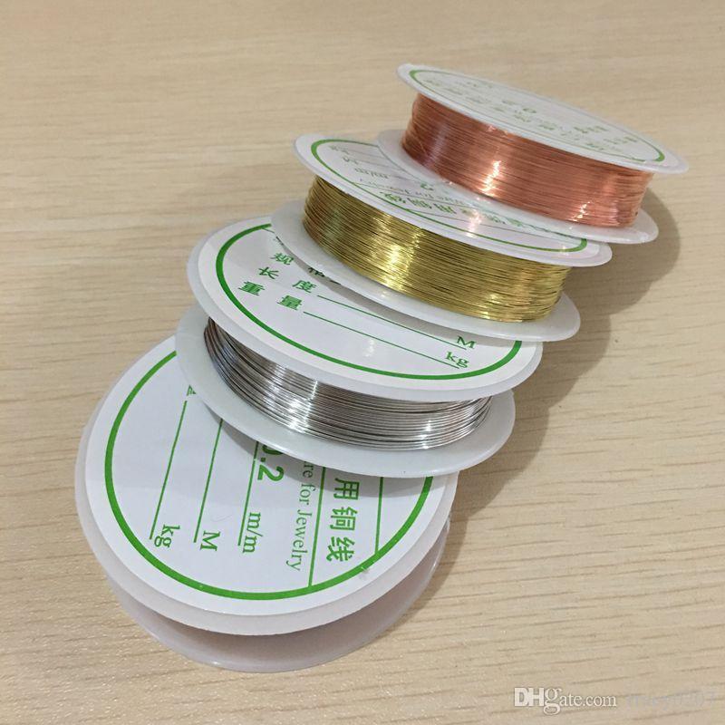 0.2mm à 1 mm couleur métal de cuivre couleur cuivre très fort peut faire la forme bijoux bricolage fabrication de résultats accessoires