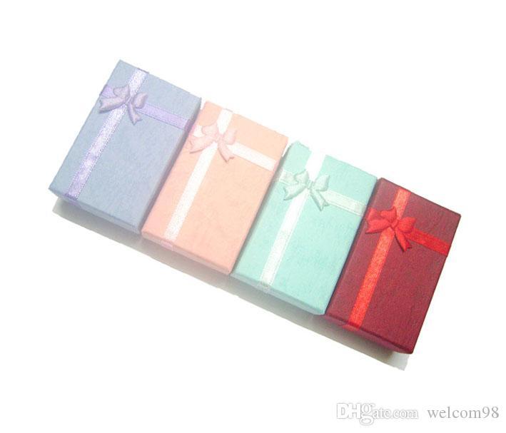 24pcs / lot 믹스 컬러 반지 귀걸이 목걸이 선물 포장 디스플레이에 대 한 보석 상자 5x8x2.5cm BX16