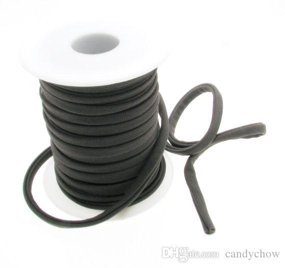 20 Meter Schwarz Draht von Nylon Elastisch 0,5mm