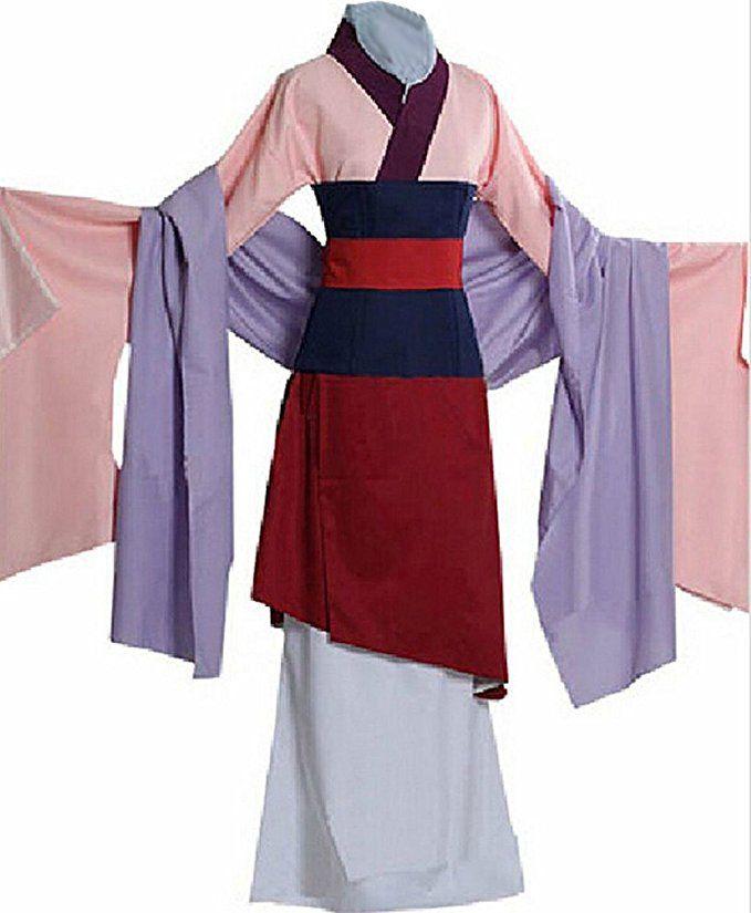 Halloween Kostüm Mulan Outfit Kleid