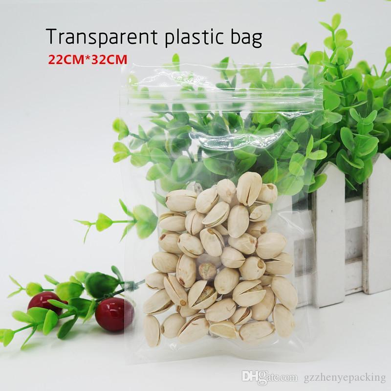 22 * 32cm Sacchetto di plastica trasparente / impermeabile e antipolvere, imballaggio di gusci di telefoni cellulari, sacchetti di cibo. Spot 100 / pacchetto
