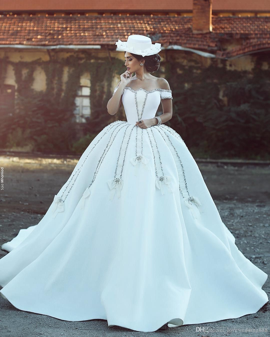 Queen Style Gorgeous Ball Gown Wedding Dresses 2017 Newest Custom ...