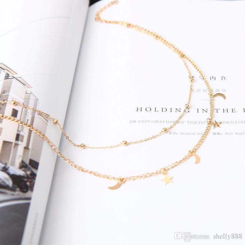 2017 Gilr design Fashion New Simple Bead Collane con fiori tre disegni layernecklace per donna HX041