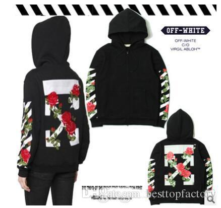 Off White Hoodie Loose Pullover Autumn and winter new fashion couple Sweatshirt!