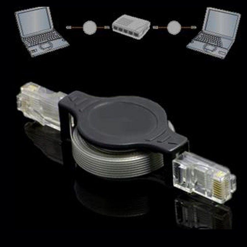 300 adetgrup Geri Çekilebilir RJ45 M-M Ethernet Ağ Kablosu Bilgisayar Laptop Netbook dhagte için en düşük fiyat