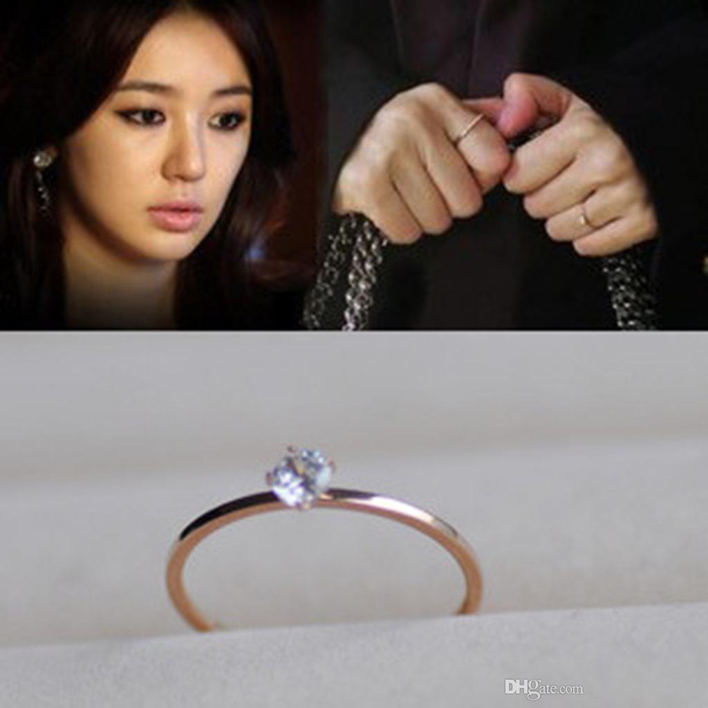 316L التيتانيوم الصلب عشاق باند خواتم مع واحد كبير الماس في 1.1MM للنساء والرجال مجوهرات الزفاف حار بيع شحن مجاني PS5448