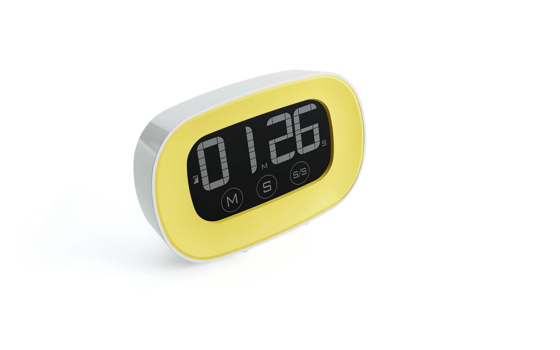 Toque no temporizador A contagem regressiva eletrônica do temporizador da tela do LCD da cozinha da cozinha