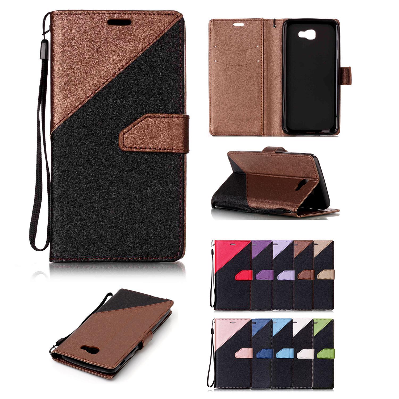 Handyhüllen-Abdeckungen für Samsung Galaxy J5 Prime PU-Leder mit Kartensteckplatz Handschlaufe Sandstrand Oberflächendesign