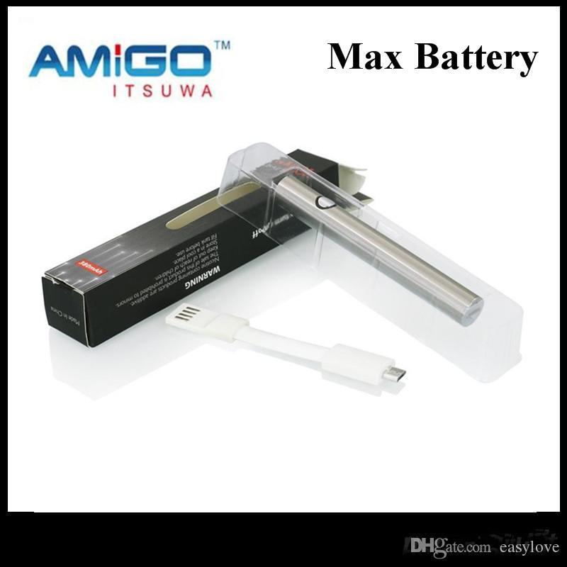 جديد iSsuwa Amigo 380Mah eSmart Max التسخين VV البطارية أسفل تهمة لحرية دبابات V1 X5 V5 V7 V9 V16 100 ٪ الأصلي