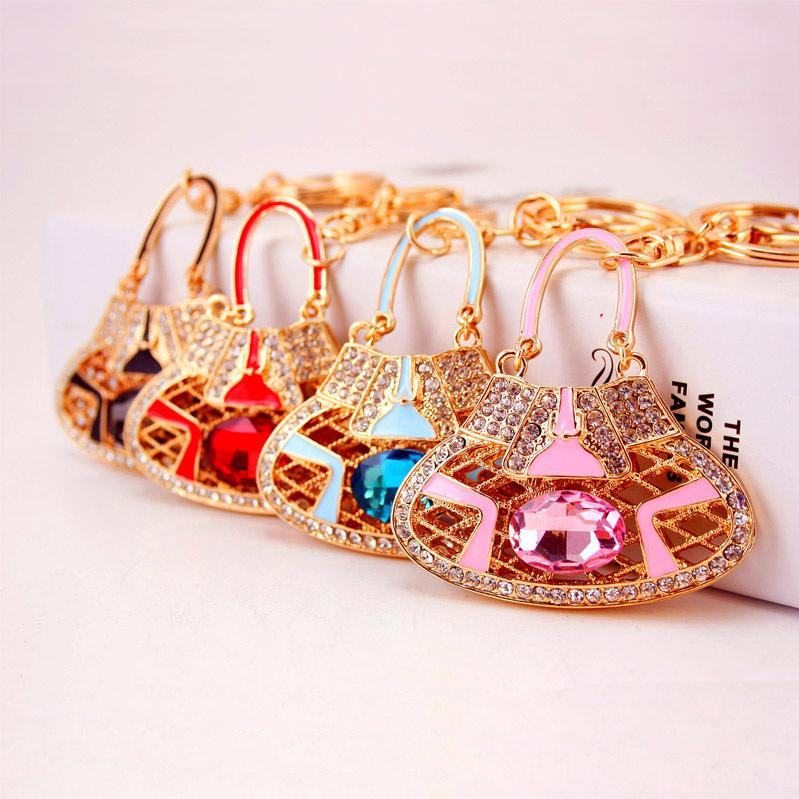 Cool city jewelry ornament creative new product high crystal key chain bag handbag accessories, 860