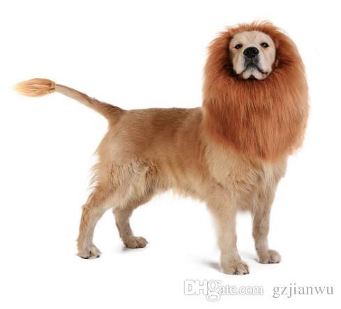 Lion Mane Wigs for Large Dog Cat, Pet Cosplay Costumes Dog Cat Wigs Cute Halloween Pet Wigs with Ears, Lion Mane Fancy Dress Dog Headgear Fe