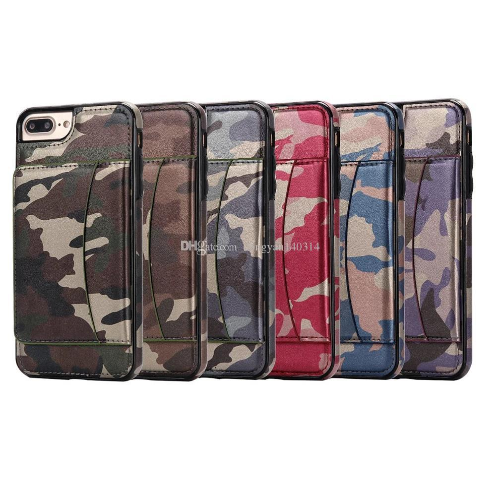 the best attitude 28b60 a452e New Luxury Multifunction Camouflage Army Camo Wallet Case PU & TPU Card  Solt Stand Cover For IPhone 6/7 Plus Galaxy S6/S7 Edge Create A Cell Phone  ...