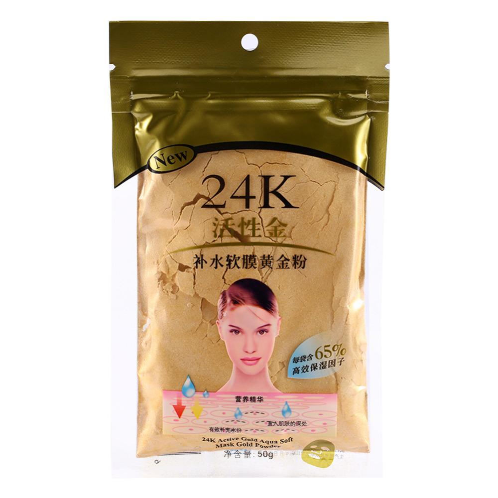 Wholesale big quantity 24K Gold Collagen Face Mask Powder for Beauty Salon Spa  Moisturizing 5pcs Free shipping