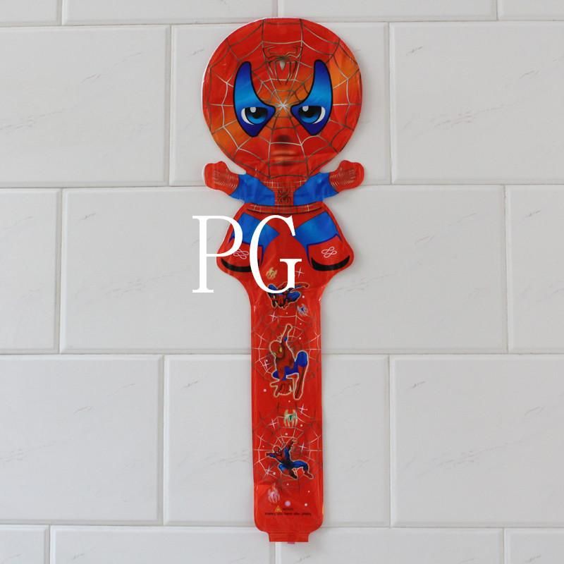 new arrivel !!! 100pcs/lot 78*25cm spiderman cheering stick balloon clappers inflatable balloon stick