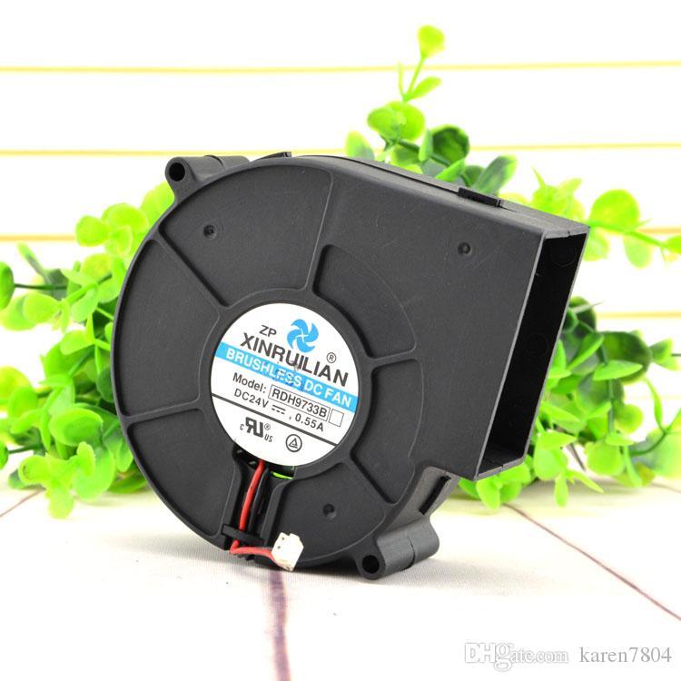 Frete Grátis Original RDH9733B XINRUILIANO 24 V 0.55A 9 CM 9733 2 Linhas Ventilador ventilador