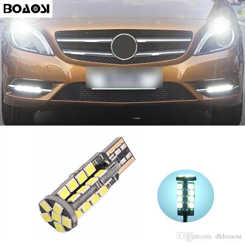 Lumières de stationnement de BOAOSI T10 2835SMD LED Sidelight aucune erreur pour le benz CLS GLK E200 E260 E300 W219 W220 w202 w220 w204 w203 A / C / E / S / R