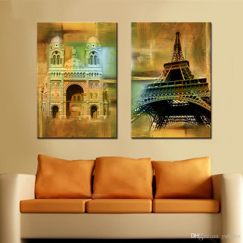 2018 Canvas Art Painting Classic Building Decorative Wall Pictures ...