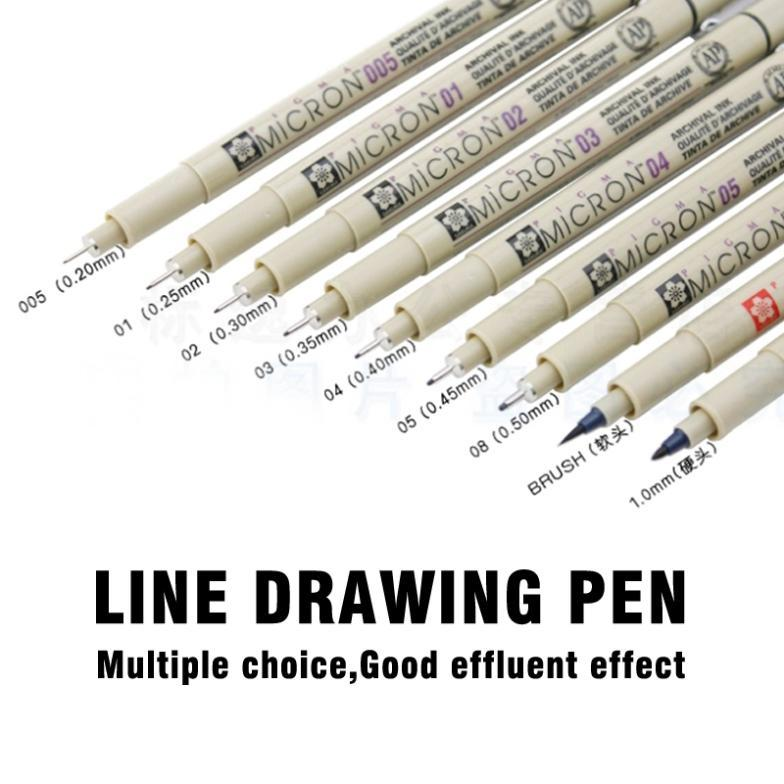 Line drawing pen Water soluble cartoon graffiti art supplies copic sketch markers drawing fine brush Marker pen