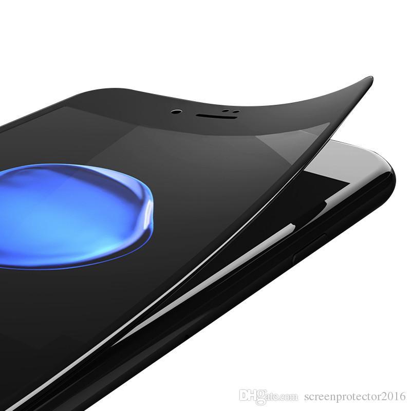 3D غطاء كامل الأفلام لفون X 8 3D منحني لينة حافة ألياف الكربون حامي الشاشة فيلم لفون 7S الزجاج المقسى آيفون 6 6S زائد