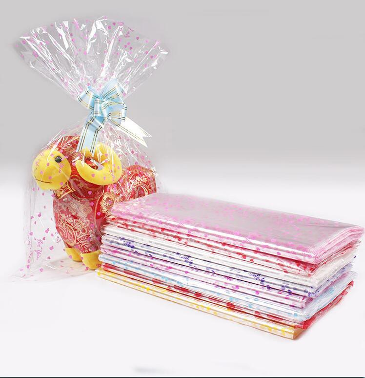 Şeffaf Ambalaj Çanta Hediye Şeker / Çerez / Takı Plastik Ambalaj Çanta Pembe Taze Mini Paket Çanta 18x25 cm