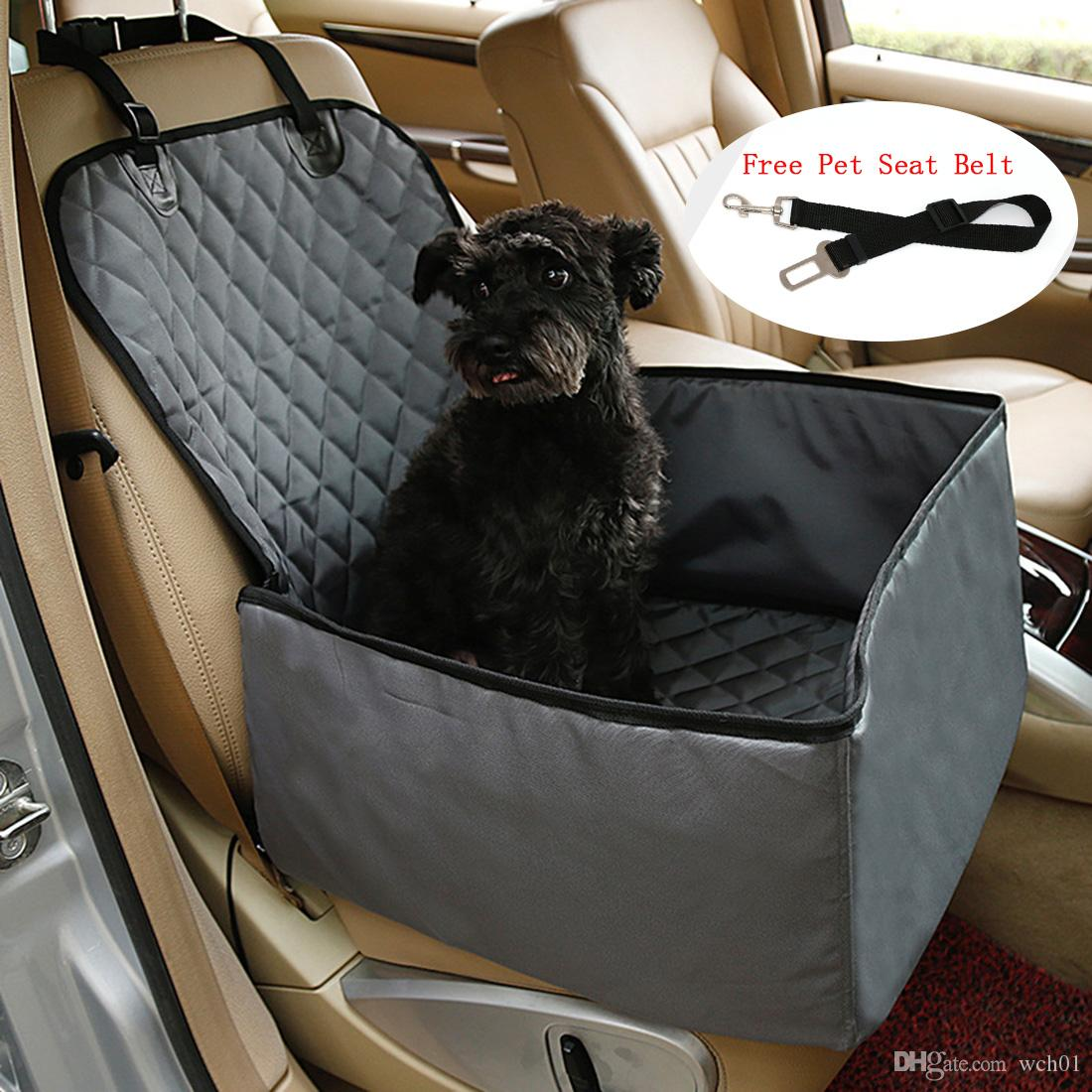Pet Car Seat Covers >> 2019 Pet Seat Cover Grey Front Waterproof Washable Dog Car Seat Cover Protector With Pet Seat Belt For Small Medium Dogs Car Suv Trucks From Wch01