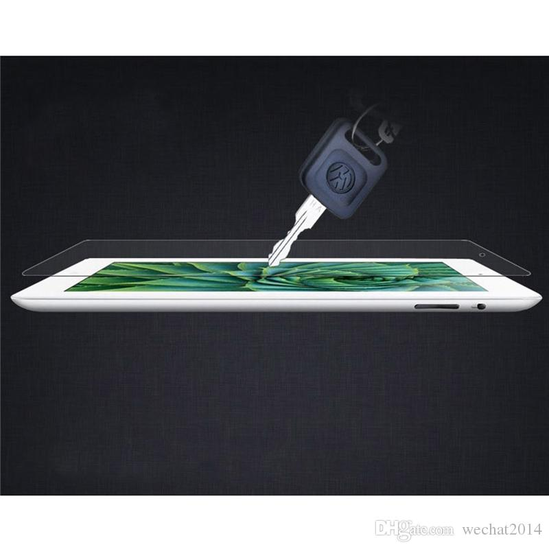50PCS Shatter Proof Explosion Proof 9H 0.3mm Screen Protector Tempered Glass for iPad 2 3 4 Air 2 No Package