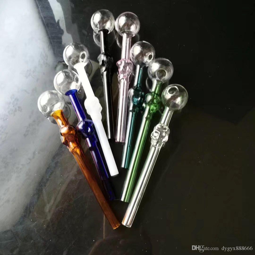 La nouvelle couleur crâne Bone OS droite en verre Tuyau Fumoir, en gros, raccords de tuyauterie, Livraison gratuite