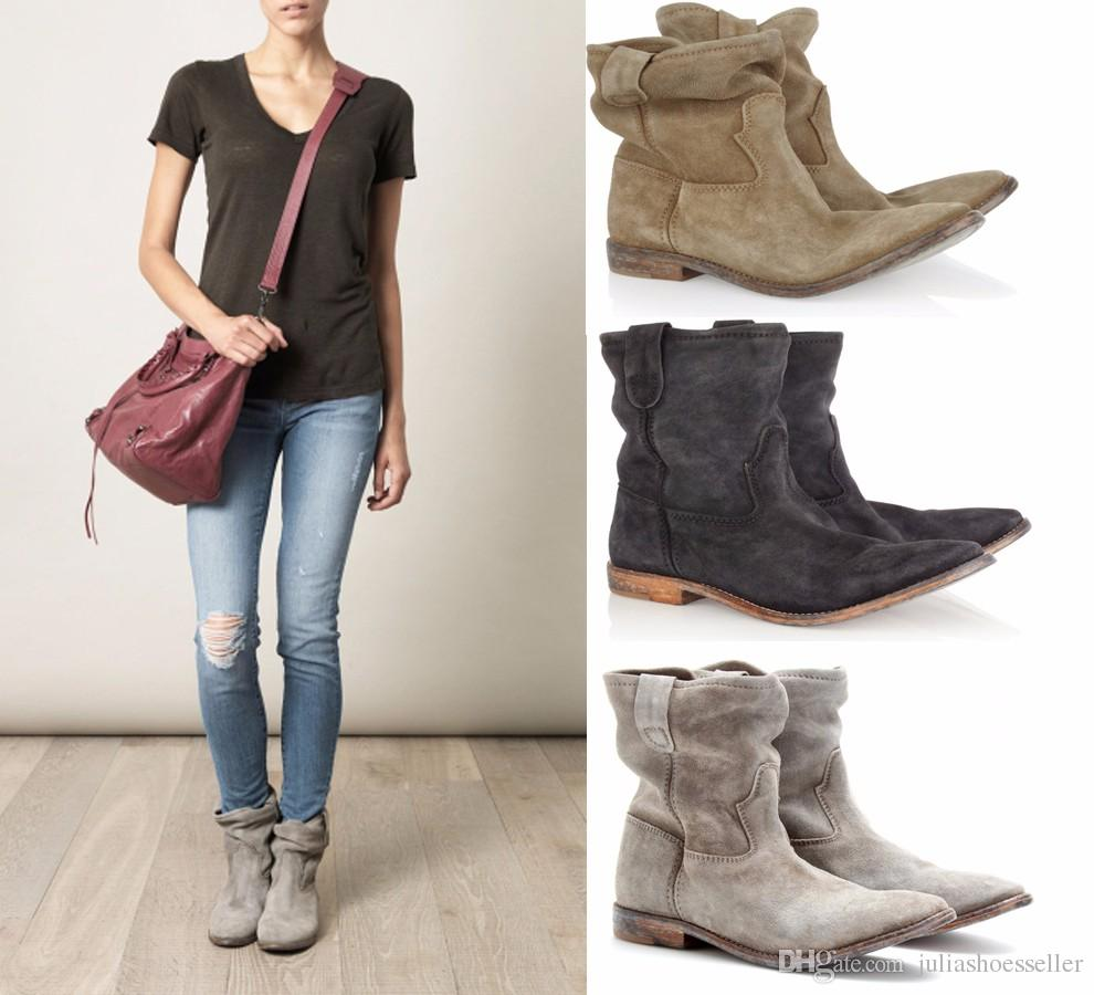 Suede Ankle Boots For Women