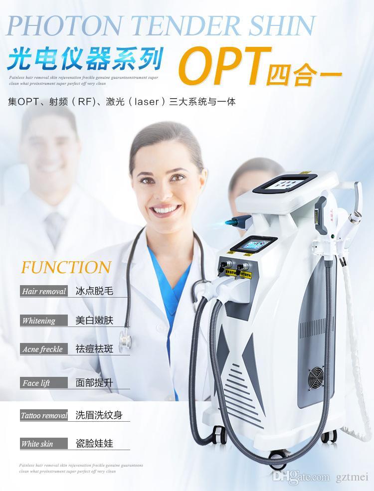OPT SHR Haarentfernung mit Yag Laser Tattoo Entfernung RF Hautstraffungsmaschine