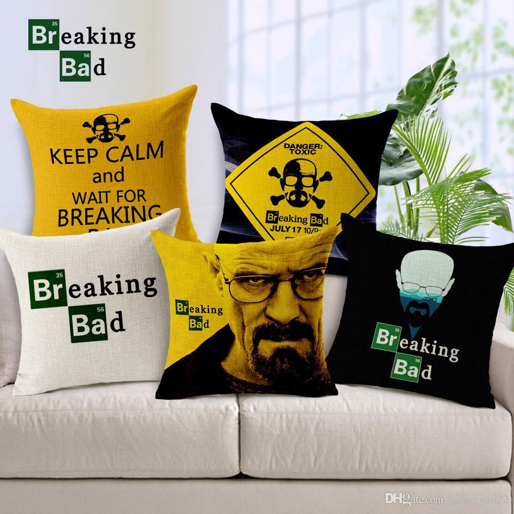 Cuscini Breaking Bad.Acquista Cuscino Cvoer Vintage The Breaking Bad Pillow Case Divano