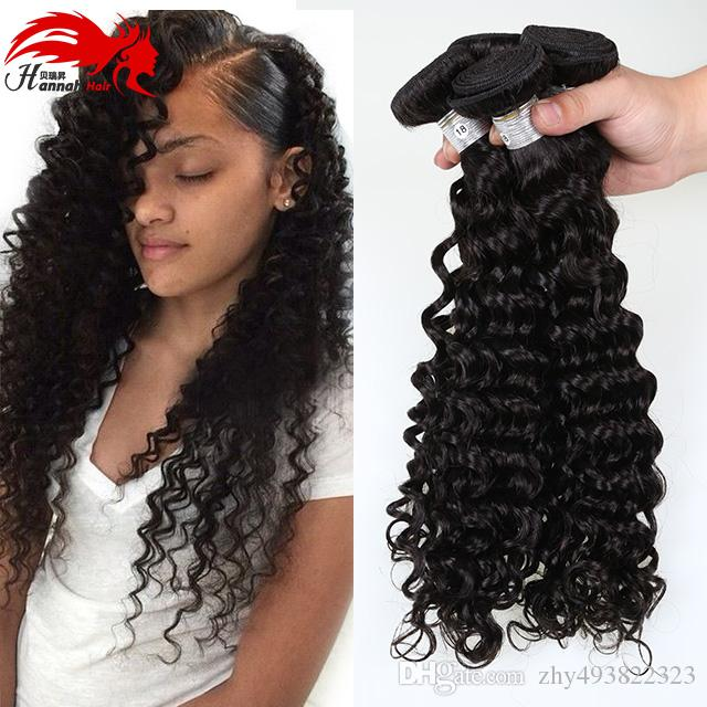 Brasiliana onda profonda brasiliana profonda ricci capelli vergini remy 3 pacchi non trasformati estensioni dei capelli ricci brasiliani vergini