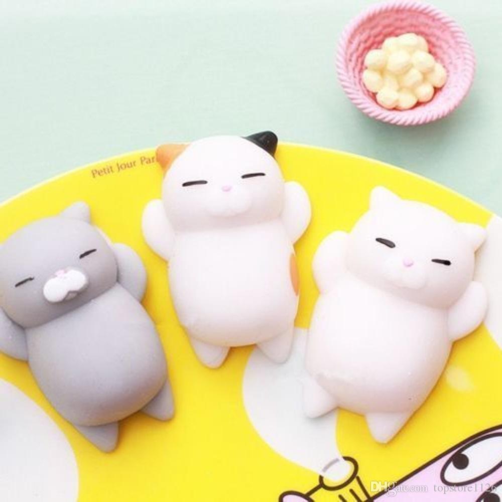 Hot Moda Multicolor Macio Squishy Gato Cura Squeeze Fun Toy Presente Presente Apaziguador do Stress Adorável Decoração