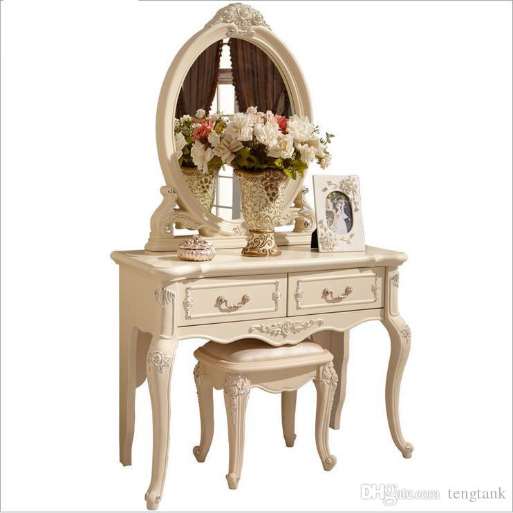 Factory Price RoyalEuropean Mirror Table Modern Bedroom Dresser French  Furniture White French Dressing Table P10146 UK 2019 From Tengtank, GBP ...