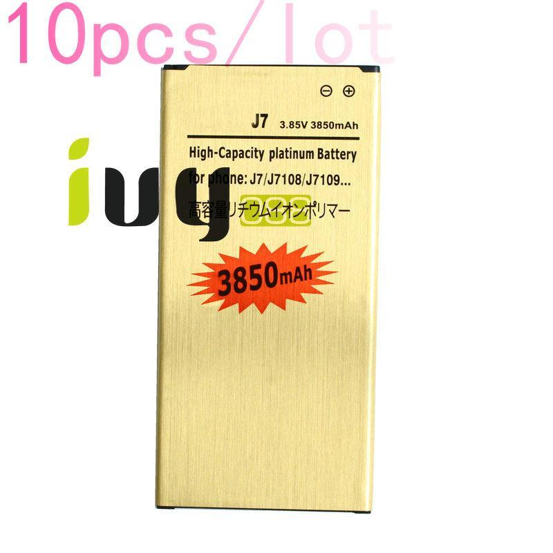 10PCS / LOT 3850mAh EB-BJ710CBC الذهب استبدال البطارية لبطاريات 2016 الطبعة سامسونج غالاكسي J7 J7108 J7109 SM-J708 J7008 J7009 J700F