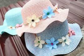 2017 sıcak güzel çiçek çocuk güneş şapka çocuklar kız hasır şapka güneş şapka boyunca yüzme plaj gitmek gitmek
