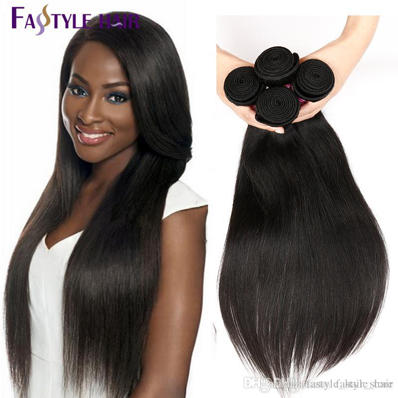 HOT SELLING!!Wholesale Fastyle Peruvian Straight Hair Extensions Unprocessed Brazilian Malaysian Indian Virgin Human Hair Bundles 4pc/lot