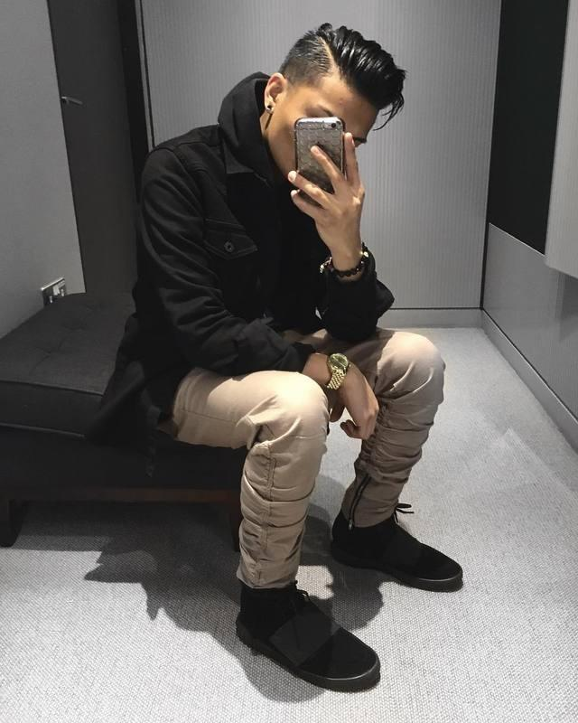 2017 Justin Bieber Black/Green/Grey/ Khaki Side Zipper Harem Pants ...