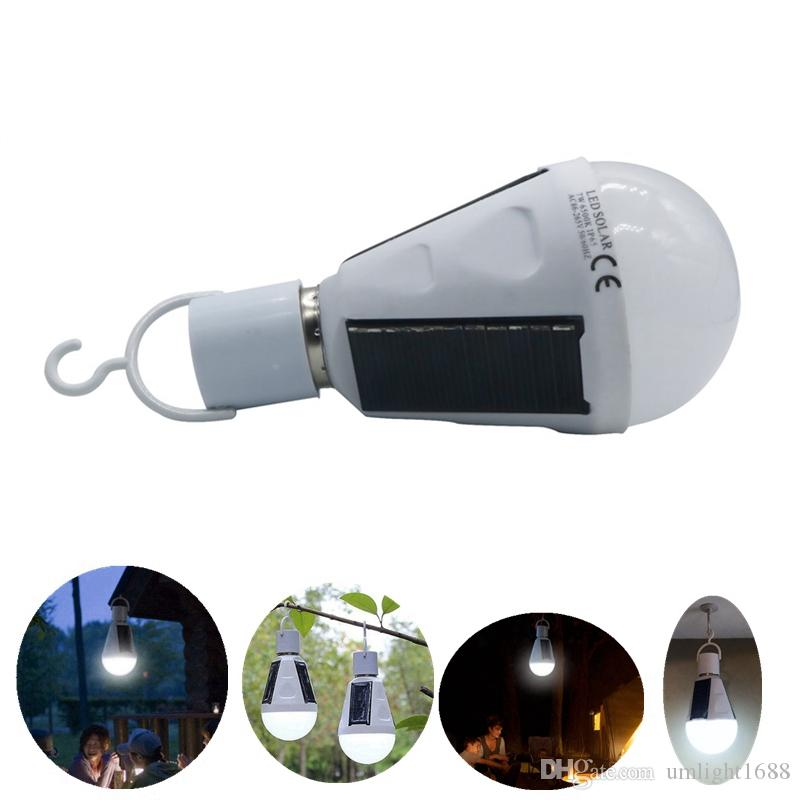 Umlight1688 E27 7W Solarlampe 85-265V Energiesparlicht LED Intelligente Lampe Wiederaufladbare Solar-Notlicht-Lampe Tageslicht