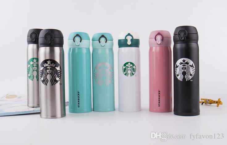 Marka 450 ml 350 ml Klasik Starbucks Paslanmaz Çelik Kupa Starbucks Enayi Fincan Starbucks Kahve Fincanı Uzun Şişe Termal Yalıtım su