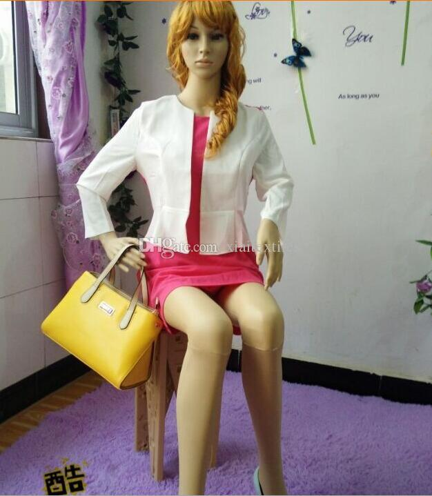 wholesale All plastic sewing mannequins woman, props, ladies, models, clothing stores, display stands, cosmetology sitting models 1PC B895