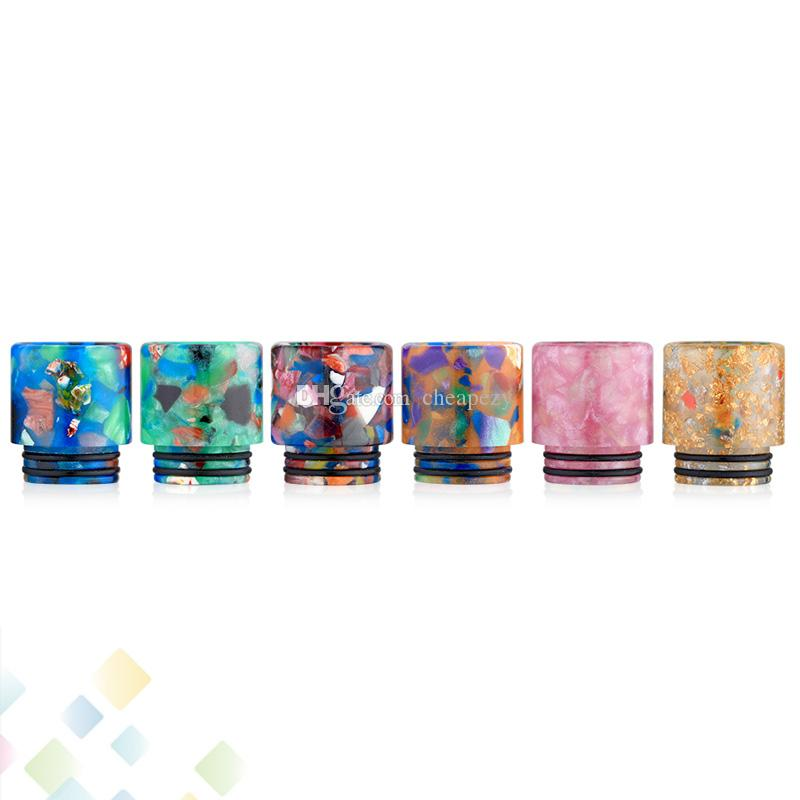 TFV8 Epoxy Resin Drip Tip 810 Mouthpieces Floral Design Drip Tips Fit TFV8 TFV12 TFV8 Big Baby Atomizers DHL Free
