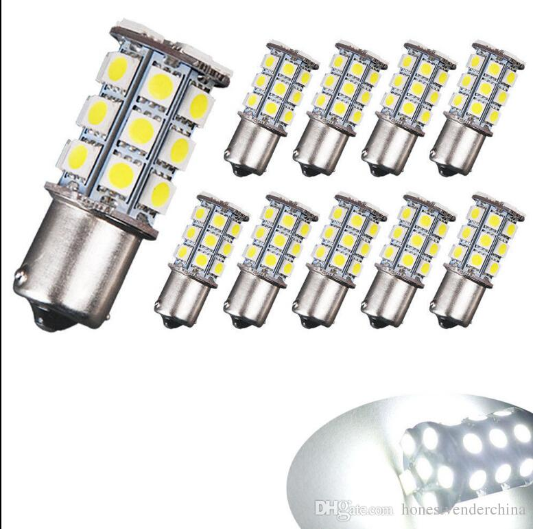 20x High Power Amber Warm White Car Led Light BA15S 1156 27SMD LED Auto Reverse Backup Light Lamp Bulb 12V
