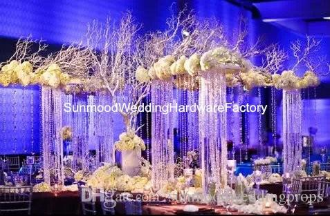 Artificial flower arrangement stand wedding table centerpieces,event planters for flower arrangement